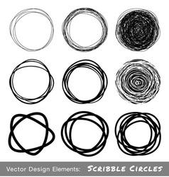 Scribble rounds set9 vector