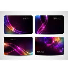 Magical light business cards vector