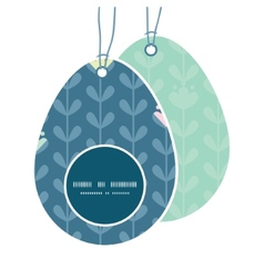 Blloming vines stripes easter egg shaped vector