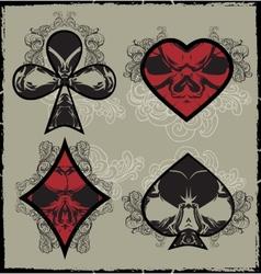 Suits skulls vector