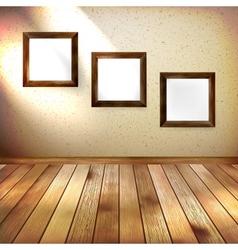 Retro room with three frames eps 10 vector