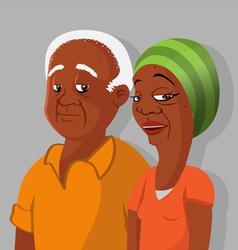 Black elderly couple vector