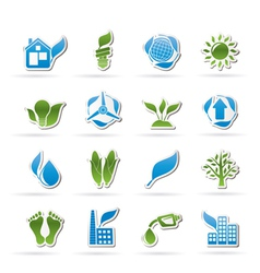Environment and nature icons vector