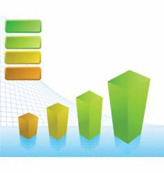 Business profit chart vector