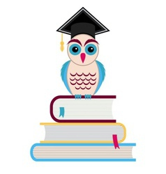 Graduation cap and owl vector