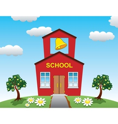 Country school house vector