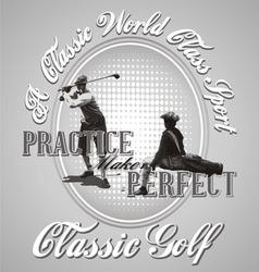 Golf practice vector