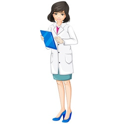 A female doctor vector
