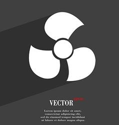 Fans propeller icon symbol flat modern web design vector