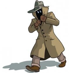 Suspicious man vector