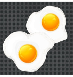 Breakfast egge pan vector