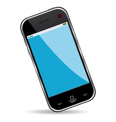Cell phone over white background vector