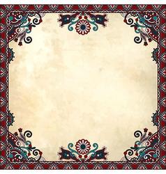 Flower frame design on grunge background vector