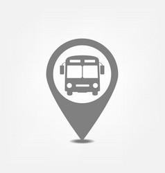 Bus stop pointer vector