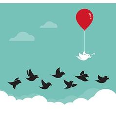 Birds flying in the sky vector