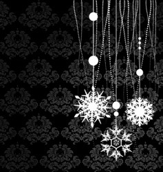 Winter background snowflakes vector