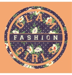 Glamour fashion girls vector