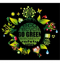 Environment and eco frame vector