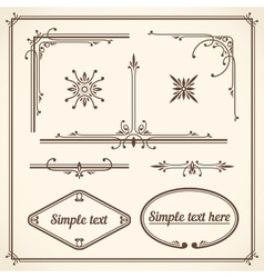 Design elements corners vector
