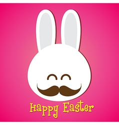 Happy easter smile rabbit bunny cartoon 002 vector