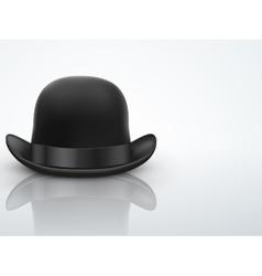 Light background black bowler hat vector