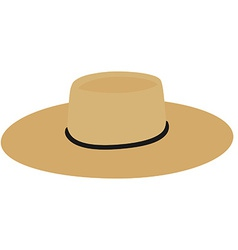 Straw hat vector