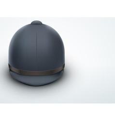 Light background jockey helmet for horseriding vector