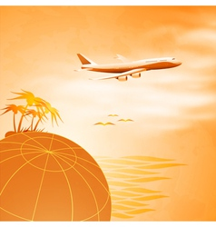 Travel concept background vector