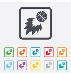 Basketball fireball sign icon sport symbol vector