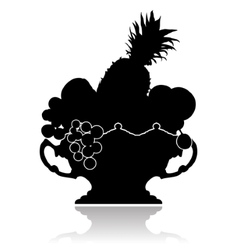 Vase with fruit vector