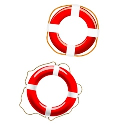 Life buoy icons vector