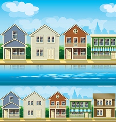 Houses suburb vector