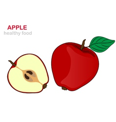 Apple fruit vector