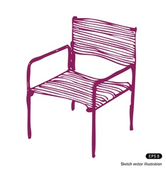 Modern chair vector