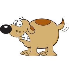 Cartoon dog wagging tail vector