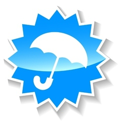 Umbrella blue icon vector