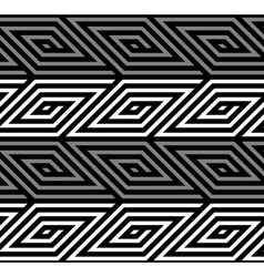 3d rhombus spirals geometric optical black and vector