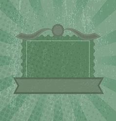 Green grunge retro background vector