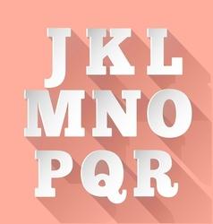 Paper alphabet j-r vector