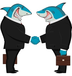 Sharks in business vector