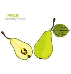 Pear fruit vector