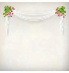 Floral vintage wedding background vector