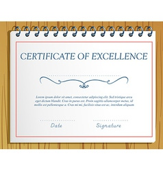 Certification vector