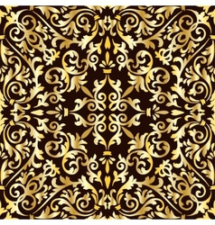 Golden baroque pattern vector