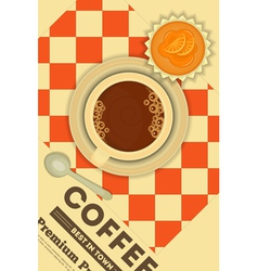 Coffee and orange cupcake vector