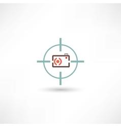 Camera at gunpoint vector