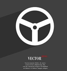 Steering wheel icon symbol flat modern web design vector