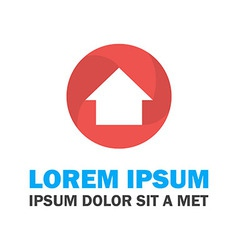 Red and blue house logo vector