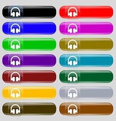 Headphones earphones icon sign set from fourteen vector