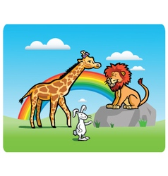 Kid animals vector